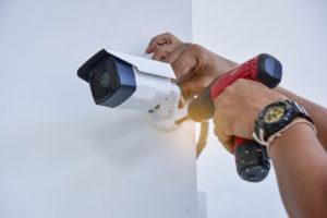 CCTV being installed